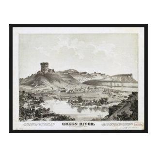Uitzicht van Groene Rivier, het Grondgebied van Canvas Afdrukken