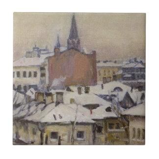 Uitzicht van het Kremlin door Vasily Surikov Keramisch Tegeltje