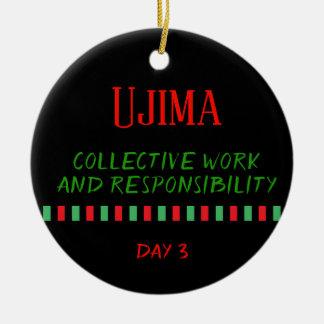 Ujima - ornement du jour 3 % pipe% de Kwanzaa