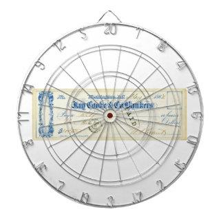 Ulysses S. Grant Signed Controle vanaf 17 Mei 1867 Dartbord