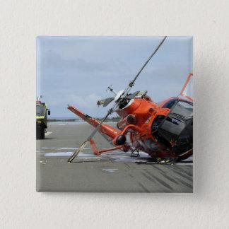 Un accident d'hélicoptère de dauphin de la garde badge carré 5 cm