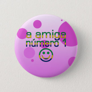 Un Amiga Número 1 dans le drapeau brésilien colore Badge Rond 5 Cm
