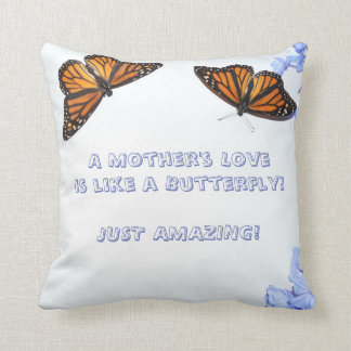 Un amour de mère - papillon 2 coussins carrés