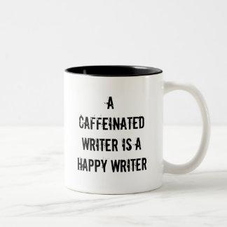 Un auteur caféiné est une tasse heureuse d'auteur