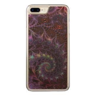 Un autre art abstrait de fractale d'imaginaire du coque carved iPhone 8 plus/7 plus