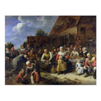 Un banquet de village carte postale