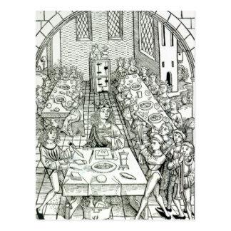 Un banquet princier, 1491 carte postale