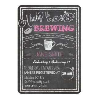Un bébé brasse (fille) ! carton d'invitation  12,7 cm x 17,78 cm