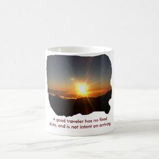 Un bon voyageur - tasse de café