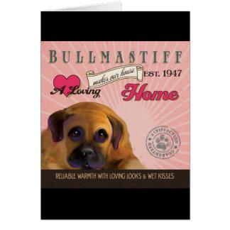 Un Bullmastiff affectueux fait notre maison de Carte De Vœux