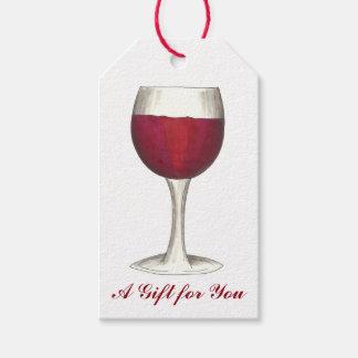 Un cadeau pour vous étiquette en verre de cadeau