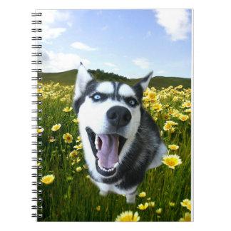 Un carnet enroué heureux