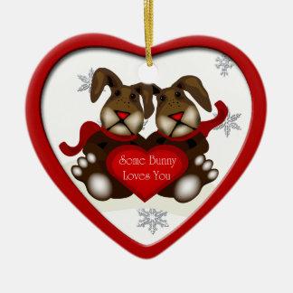 Un certain lapin vous aime ornement de Noël