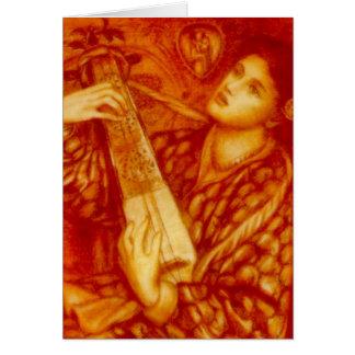 Un chant de Noël par la carte de Rossetti
