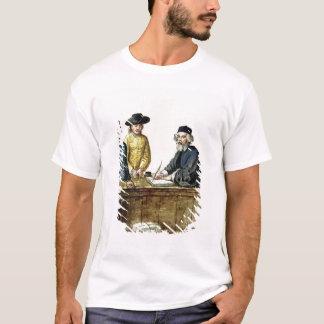 Un commerçant juif avec deux clients t-shirt