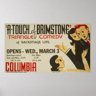 Un contact de poster vintage de soufre