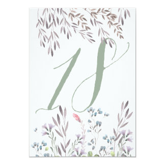 Un double de no. 18 de Tableau de mariage de fleur Carton D'invitation 12,7 Cm X 17,78 Cm