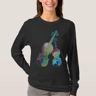 Un duo coloré de violon et d'alto t-shirt