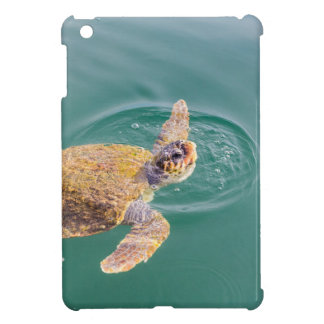 Un grand Caretta de tortue de mer de natation Coque Pour iPad Mini