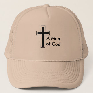 Un homme de casquette de camionneur de Dieu
