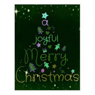 Un Joyeux Noël joyeux Carte Postale
