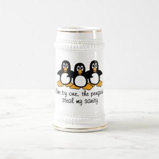 Un les pingouins volent ma santé d'esprit chope à bière