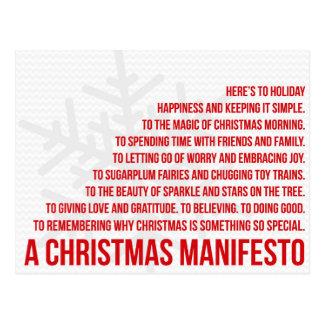 Un manifeste de Noël Carte Postale
