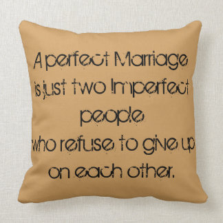 Un mariage parfait oreiller