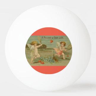 """""""Un message cru d'amour"""" jouant des cupidons Balle De Ping Pong"""