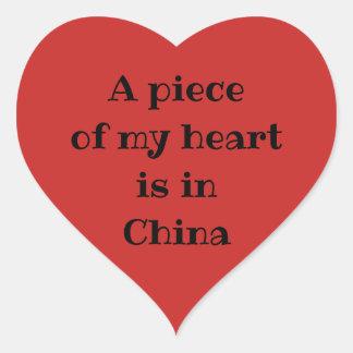 Un morceau de mon coeur est dans des autocollants