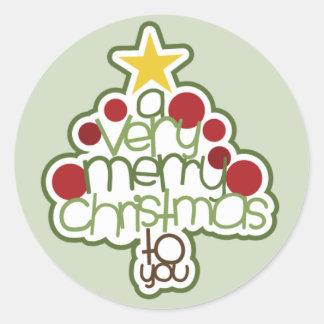 Un Noël très Joyeux à vous autocollant
