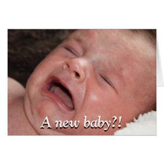 Un nouveau bébé ? ! Bonne chance avec cela ! Drôle Carte De Vœux