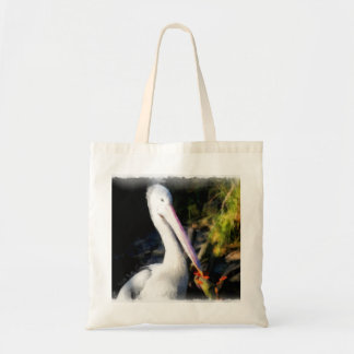 Un oiseau blanc et son grand bec tote bag