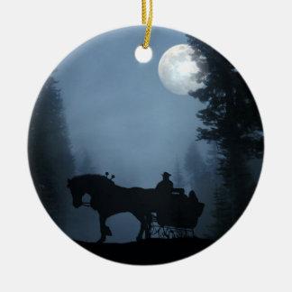 Un ornement ouvert de Sleigh de cheval