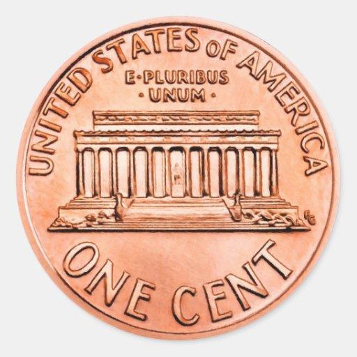 Un penny de cent adhésifs ronds
