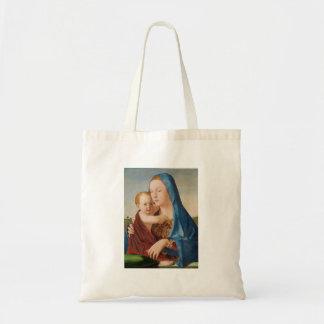 Un portrait de Mary et de bébé Jésus Tote Bag