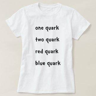 Un quark rouge de bleu de quark de quark du quark t-shirt