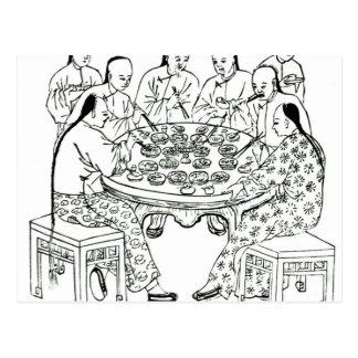 Un repas amical carte postale