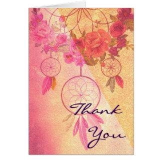 Un rêve d'une carte de note de Merci de mariage