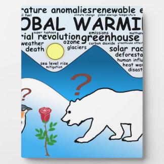 Un rose dans l'Arctique qui est réchauffement Plaque Photo
