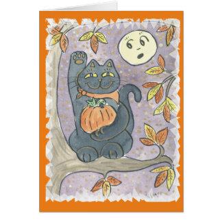 Un souhait de bonne chance d'automne carte de vœux