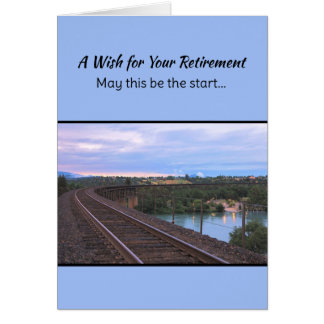 Un souhait pour votre retraite… carte de vœux