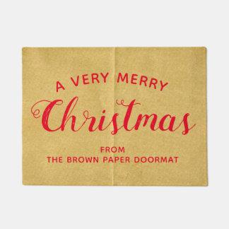 Un tapis de porte de papier de Brown de Faux de