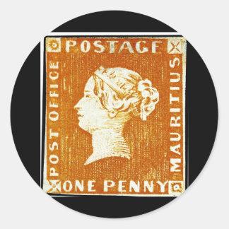 Un timbre-poste des Îles Maurice d'Empire Adhésifs Ronds