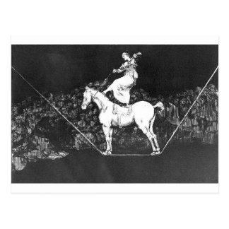 Une absurdité opportune de reine de cirque par carte postale