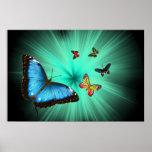 Une affiche de voyage de Butterflys