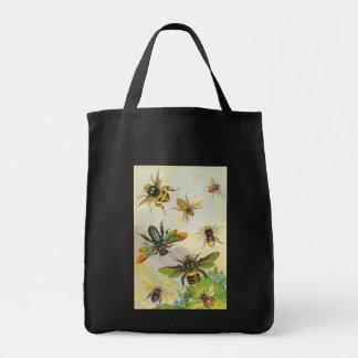 Une bande de beau sac d'abeilles