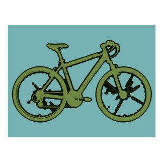 une bicyclette verte carte postale