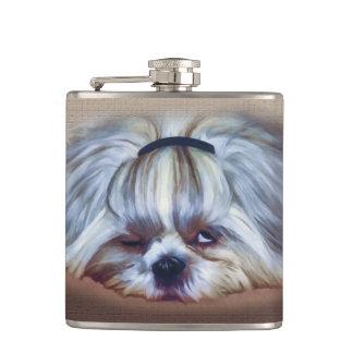Une boisson trop de chien de Shih Tzu Flasques