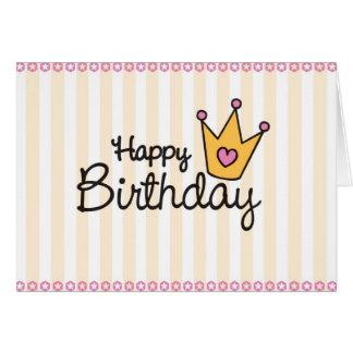 Une carte d'anniversaire pour une princesse